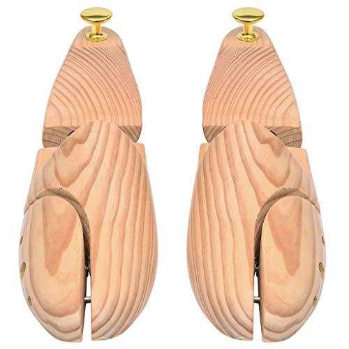 UnfadeMemory Hormas para Zapatos de Madera,Pares de Hormas de Zapatos,Madera Maciza de Pino y Metal (5 Pares, Número 44-45)