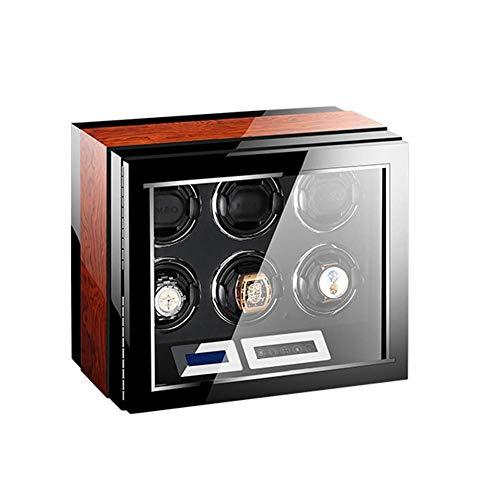 ZCYXQR Enrollador de Reloj automático con Motor silencioso Mabuchi y luz LED 15 Modos de rotación Pantalla táctil LCD Control Remoto para la mayoría de los Relojes de Pulsera (tamaño: 6 + 0)