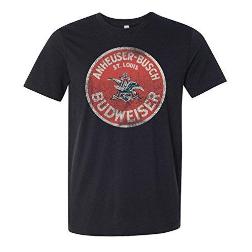 Budweiser Vintage Circle Logo Deep Heather Tee Shirt Medium