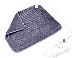 """Mosabo Extra XXLarge Electric Heating Pads for Back Pain and Cramps Relief 20"""" x 24"""" Ultra-Soft Plug in Heat Pad with Auto Shut Off Machine Washable and Moist & Dry Heat Therapy Options"""