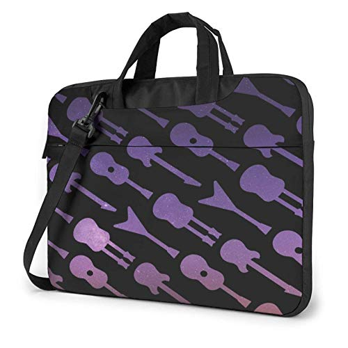 Laptop Messenger Laptop Bag Purple Galaxy Guitarras eléctricas Bolso de Hombro Maletín...
