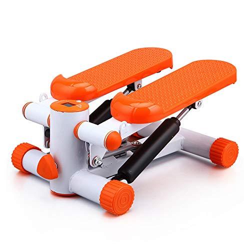 YUXIAOYU Fitness Macchina per esercizi di fitness, Mini Stepper Stepping Gambe con Fasce di Resistenza, Gambe Braccio Coscia Esercizio Fitness Allenamento Completo Corpo Arancione