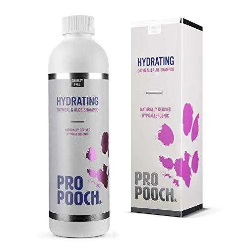 Pro Pooch Hafer-Hundeshampoo für juckende Haut (250 ml) Natürlich, hypoallergen & parfümfrei Professionelles Shampoo wie vom Hundefrisör Enthält kolloidale Haferflocken, Aloe vera und Provitamin