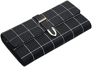 محفظة نسائية من HALAMODO مزودة بقابض من الجلد المحجب للنساء والسيدات محفظة لحمل البطاقات محفظة منظمة - محفظة بتصميم طويل