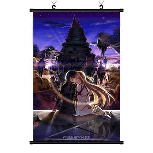ALTcompluser 40 x 60 cm Anime Poster Sword Art Online SAO Rollbild Kakemono Wallscroll Dekorative Wandbild Hängendes Plakat, Wand Zimmer Deko(Motiv 7)