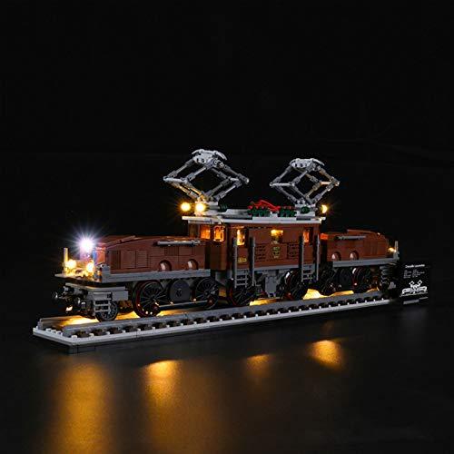 JTTM Set di Illuminazione a LED per (Locomotiva del Coccodrillo) Building Blocks Model - Kit Luce Compatibile con Lego 10277 (Non Incluso Modello Lego)