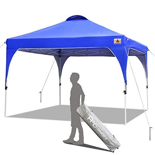Abccanopy Tonnelle Tente Gazebo Pavillon De Jardin 3x3 Easy Pop Up Auvent Portable Ombre Instantanée Se Pliant Meilleure Circulation De