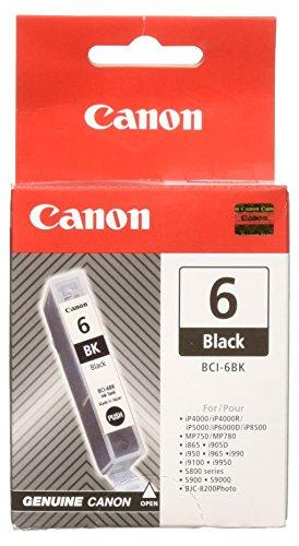 Canon BCI-6 original Tintenpatrone Schwarz für Pixma Inkjet Drucker iP4000-iP4000R-iP5000-iP8500