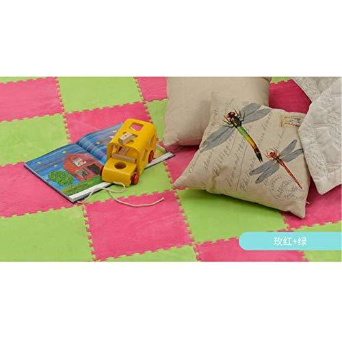 Vloerkleed puzzel tapijt tapijt puzzel tapijt pluche schuimstof tapijt ontwikkeling kruipende tapijten 30 x 30 cm