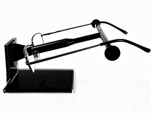 B&K Stand-Brillenhalter Base 1 mit Glas-Ständer: Brille ablegen - fertig! Brillenständer für Brillenaufbewahrung (schwarz)