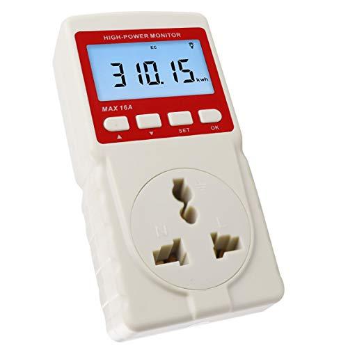 Plug - in - LCD - Watt - energiemeter Home 220 V W att Volt Wattage KwH Consumptie-analyse