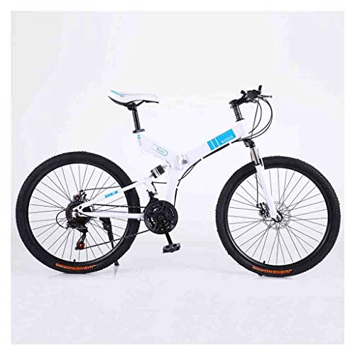 SOAR Mountain Bike Biciclette Mountain Bike for Adulti MTB Pieghevole Strada Biciclette for Uomini e Donne 24in Ruote Regolabile velocità Doppio Freno a Disco (Color : White-B, Size : 21 Speed)