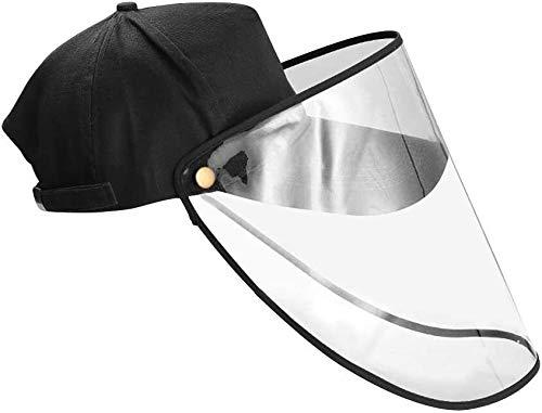 Visières Anti-buée coupe-vent Baseball Hat Anti-broche Capot de protection Protection du visage avec UV amovible Visor protection transparente de protection Visière for Hommes Femmes ( Color : Black )