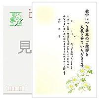 《官製 10枚》喪中はがき 手書き記入タイプ《切手付ハガキ/裏面印刷済み》k810