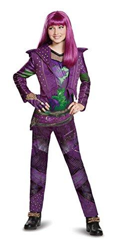 Disguise Mal Deluxe Descendants 2 Costume, Purple, Small (4-6X)