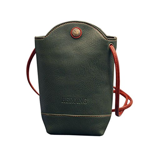 Damentasche Spriteman Frauen Mode Messenger Bags Schlank Crossbody Schultertaschen Handtasche Kleine Körper Taschen Umhängetasche businesstasche Sporttasche (Grün)