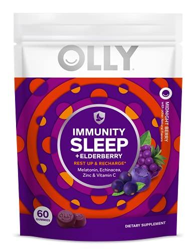 OLLY Immunity Sleep Gummy, Immune and Sleep Support, 3mg Melatonin,...