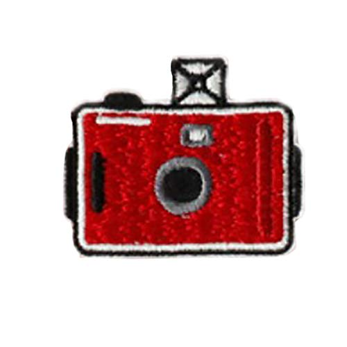 Qlychee Iron On Sew On Patches Camera Embroidery Red