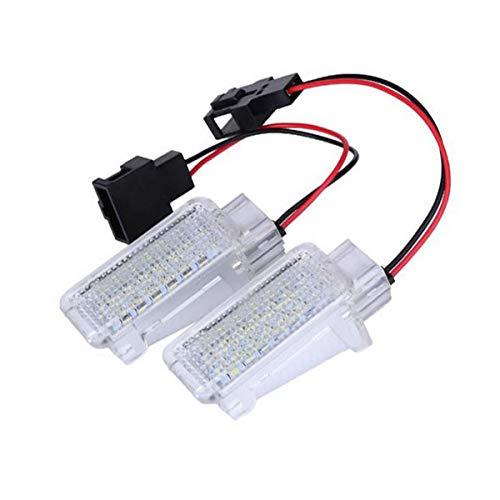GOFORJUMP 2X LED Blanc Porte Intérieur Tronc Pied-puits Lumière Auto LED Lumière de Pied-Voiture Voiture LED pour A/UDI A1 A4 A5 A6 Q3 Q5 Q7
