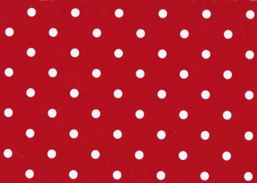 Klebefolie Möbelfolie Rot Punkte Dots 45 cm x 200 cm Dekorfolie gepunktet Bastelfolie