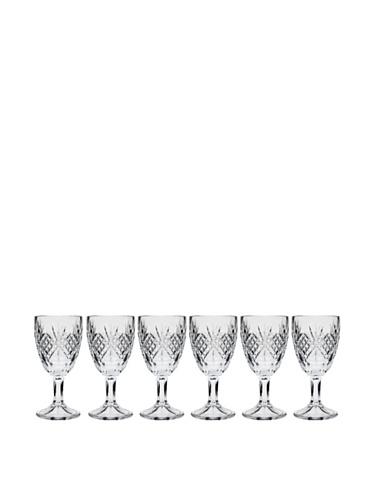 Godinger Silver Art DUBLIN COLLECTION SET OF 6 CRYSTAL CORDIAL GLASSES