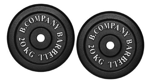 Bad Company Hantelscheiben aus Gusseisen I Gewichtsscheiben 30/31 mm für das Hanteltraining I 40 kg (2 x 20 kg)