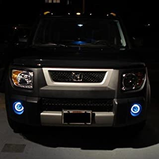 Blue Halo Xenon Halogen Fog Lights Lamps Compatible With 2003-2011 Honda Element