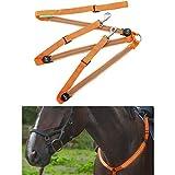 DowoaImbracatura per Cavalli a LED, Imbracatura per Cavalli Ricaricabile con Cinturino USB a LED con Imbracatura per Cavalli a Luce Spot LED La Migliore Vista per la Guida in Ambienti bui
