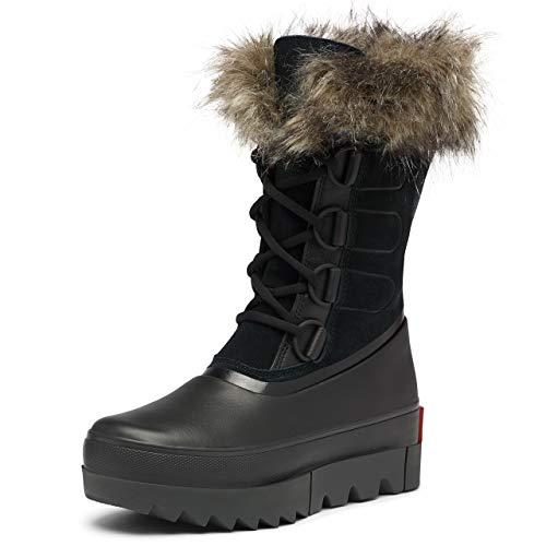 Sorel Women's Joan of Arctic Next Black Mid-Calf Leather Snow Boot - 10.5M