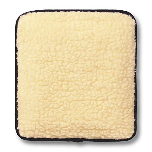 Hotties Microhottie Microwave Hot Water Bottle - Acrylic Lambswool Fleece - Cream