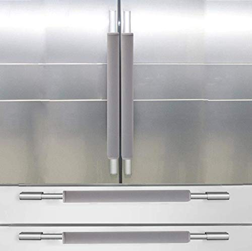 DayliPillow Gray Refrigerator Door Handle Covers - Protector for Ovens, Dishwashers.Keep Your Kitchen Appliance Clean from Smudges,Food Stains