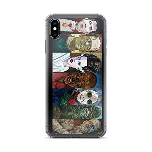 iPhone 7 Case iPhone 8 Case Clear Anti-Scratch Monster Squad, Monsters Cover Phone Cases for iPhone 7/iPhone 8, Crystal Clear