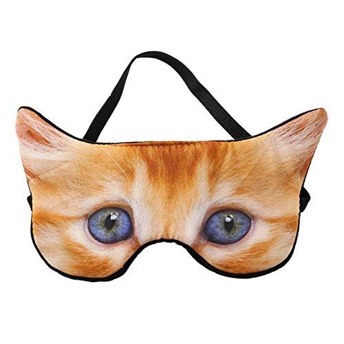 Antifaz para Dormir Animales 3D Divertido Máscara para Dormir Antifaces para Niños,Niñas, Mujeres Hombres Mascara de Ojos Sueño Antifaz Viajes Resto