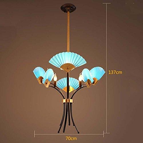 Hai Ying Modern minimalistische creatieve plafondventilator woonkamer woonkamer hanglamp (Stil optie) (kleur D-6-test)