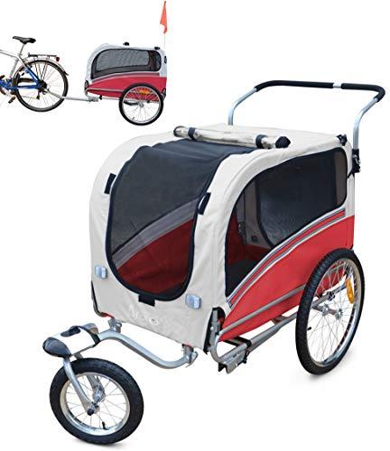 Fahrradanhänger Polironeshop Argo, Anhänger und Wagen für den Transport von Hunden Large rot