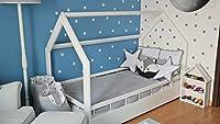 completo letto&casa+materasso ECO,stile scandinavo,bambino 160x80cm+sponde (colore del letto: bianco) #3
