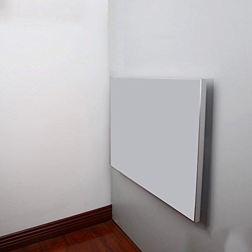 Tische MEIDUO Klapptisch Wand-Klapptisch, Klappküche Esstisch Aluminium-Legierung Edge Computertisch (Farbe : Milky, größe : L45CM*W45CM)