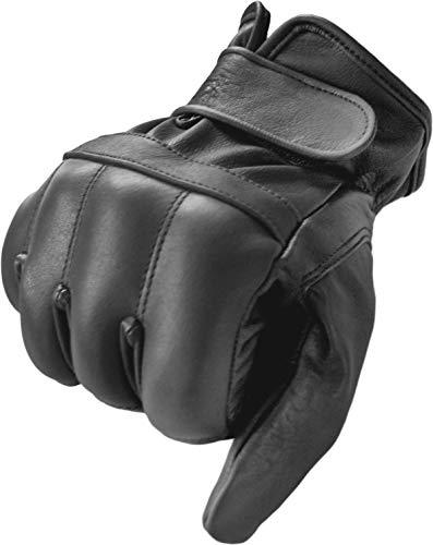 normani Quarz Lederhandschuhe aus Rindsleder und Quarzsand - hohe Schlagkraft Farbe Schwarz Größe M