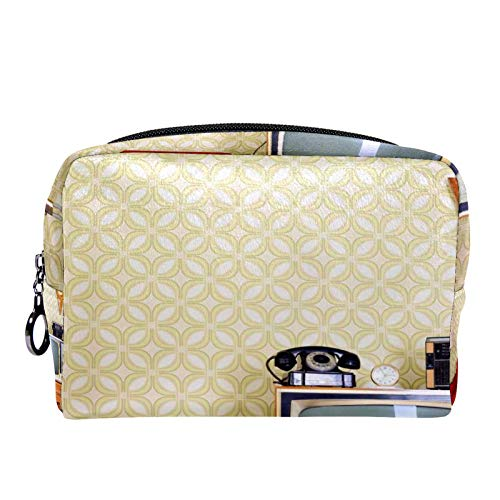 Bolsa de cosméticos Bolsa de Maquillaje para Mujer para Viajar Llevar cosméticos Cambiar Llaves, etc.,Sillón Old Fashioned