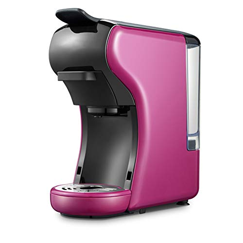 ZHAN Kaffeemaschine, Kapsel Kaffeemaschine Espressomaschine, Multi-Kapsel Kaffeemaschine Für Heim-Küchengerät,Rosa