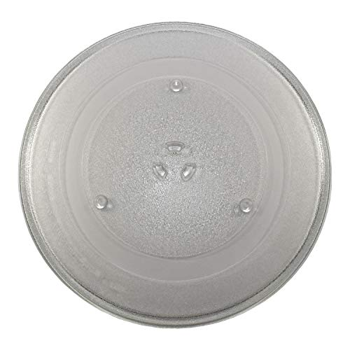 HQRP 14-1/8 inch Glass Turntable Tray Compatible with Maytag Whirlpool, Works with KitchenAid, Jenn-Air, Amana Microwave Oven Cooking Plate 360mm 14.125""