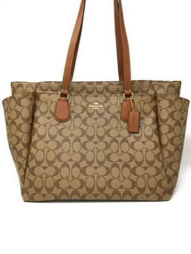 Coach Signature Baby Bag 35414 Khaki Saddle