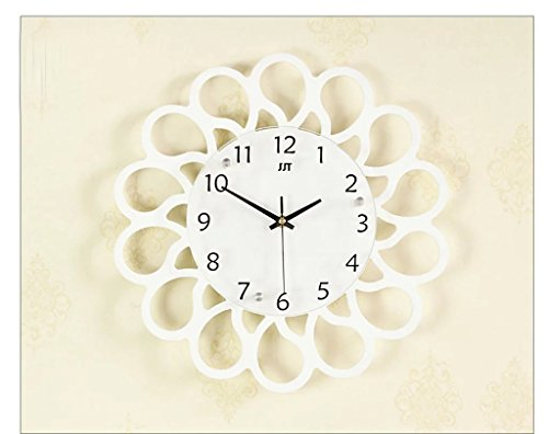 Beleuchtung Armbanduhr Creative minimalistischen Wohnzimmer Wanduhr Silent Uhr Taschenuhr Modern Art Wanduhr Quarz Uhr Persönlichkeit (Energieeffizienzklasse A +) einfach 16 inches