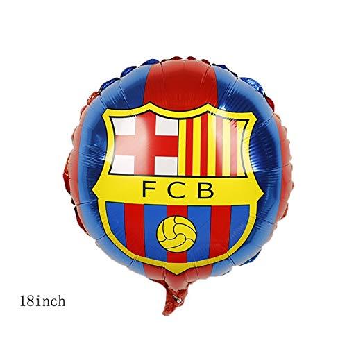 Zcm Globo Champion Trophy de Aluminio película Hinchable de fútbol Emblema del Equipo Globo Deportes Tema de la celebración de Juguete niños Party Decor (Color : 5pcs Barcelona)