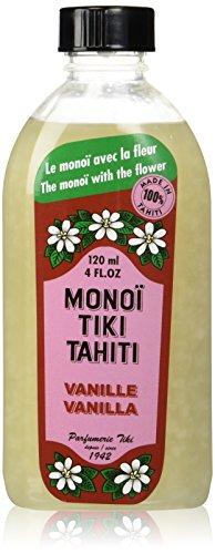 Monoi Tiare Tahiti Tipanie Scented Coconut Oil With Vanilla - 4 Oz