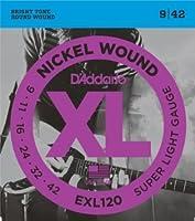 D'Addario EXL120 Super Light (09-42) ダダリオ エレキギター弦 ニッケル EXL-120 【国内正規品】