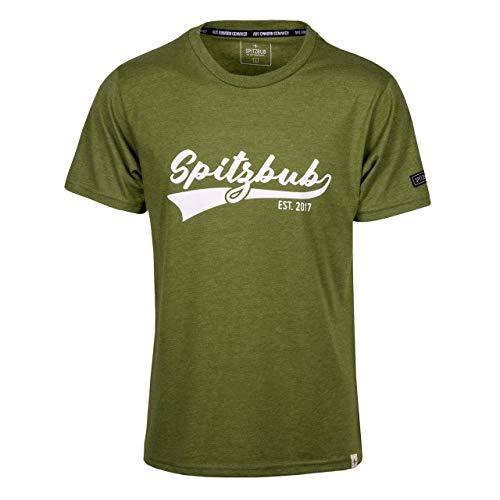 Spitzbub Herren schwarzes grünes T-Shirt Kurzarm Shirt Weiß Timo Ralph Timo L