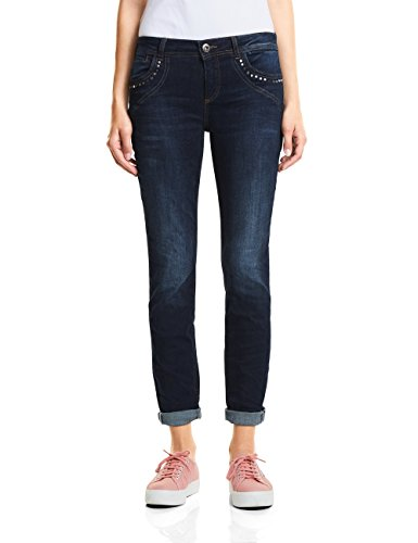 Street One Damen 371595 Rob Slim Jeans, Blau (Authentic Deep Blue Wash 11515), W27/L32 (Herstellergröße: 27)