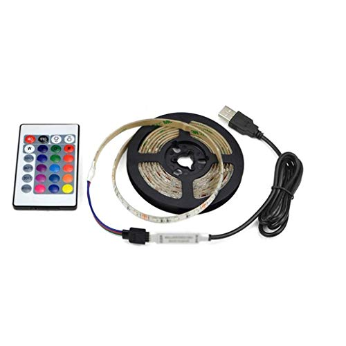 DSFEOIGY Fondo de TV LED Luz de Tira DC5V 2835 LED Diodo de Cinta Decoración de la Sala Impermeable 1-5M Party RGB LED (Size : 2m)
