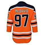 Connor McDavid Edmonton Oilers #97 Orange Infants Toddler Home Replica Jersey (12-24 Months)